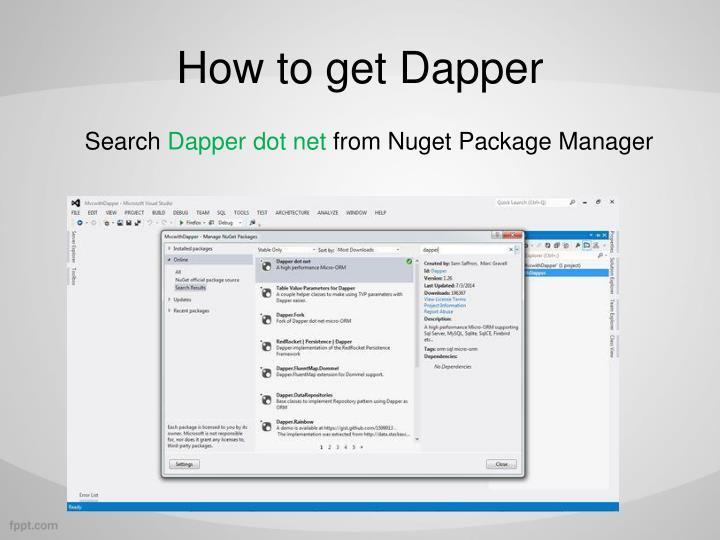 How to get Dapper