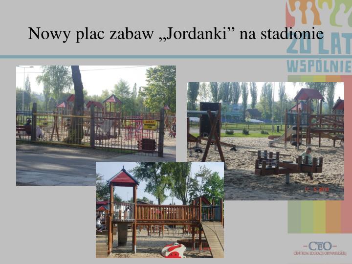 """Nowy plac zabaw """"Jordanki"""" na stadionie"""