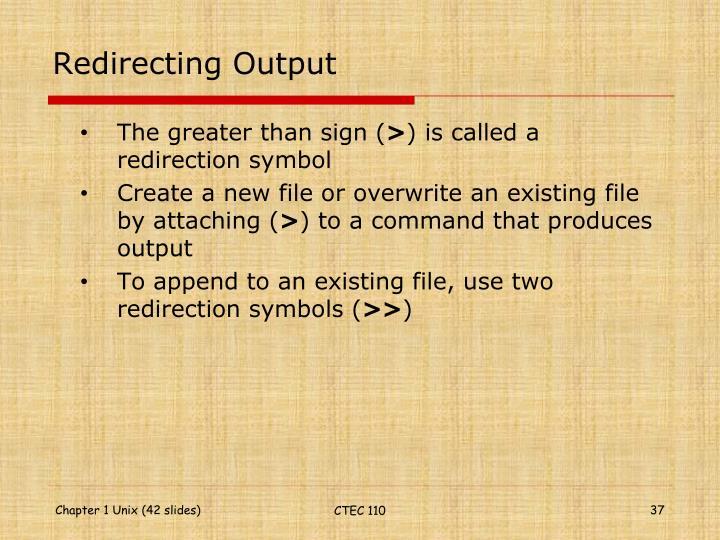 Redirecting Output