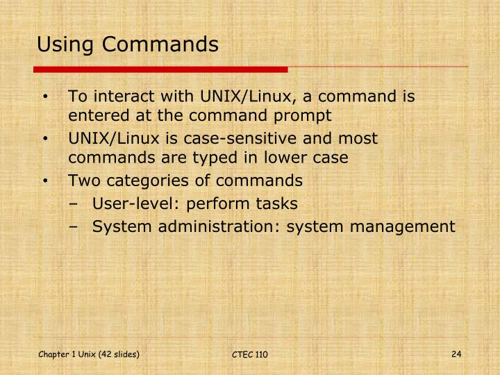 Using Commands