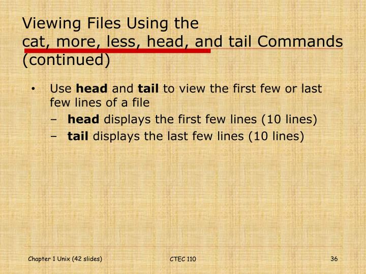 Viewing Files Using the
