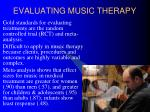 evaluating music therapy