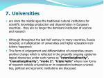 7 universities