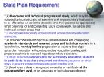 state plan requirement