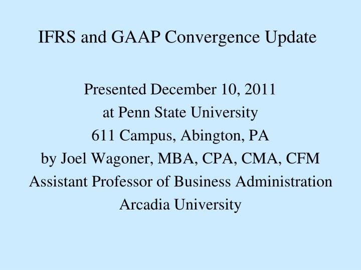 ifrs and gaap convergence update n.
