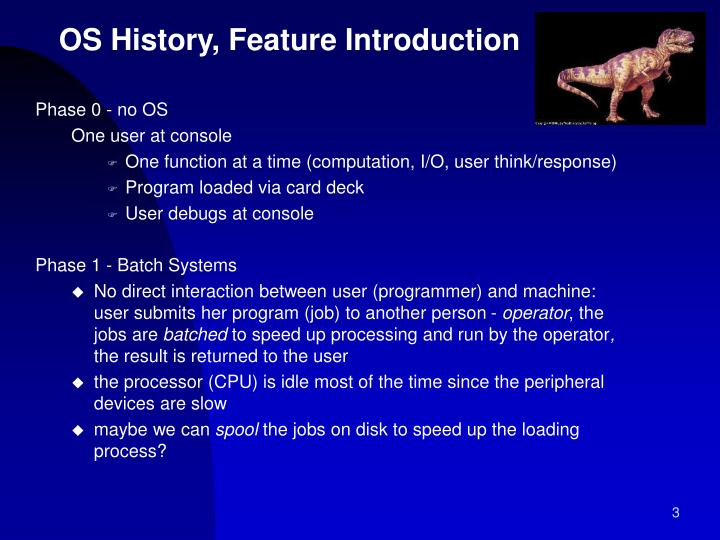 OS History, Feature Introduction