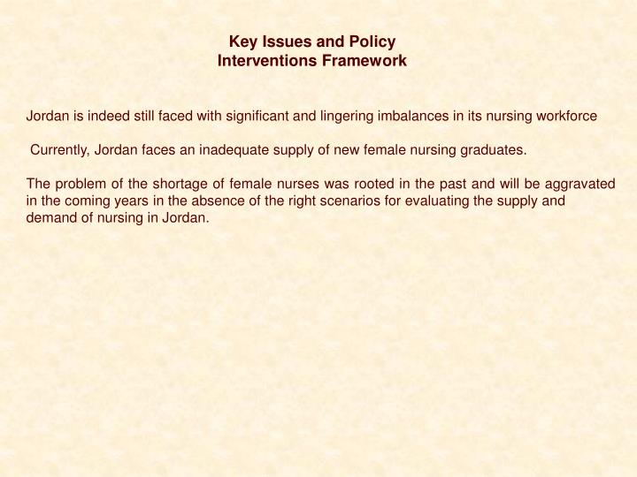 Key Issues and Policy