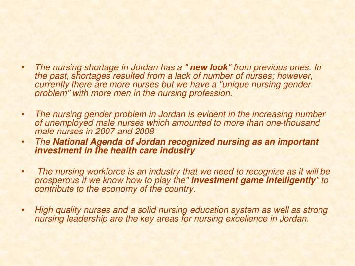 """The nursing shortage in Jordan has a """""""