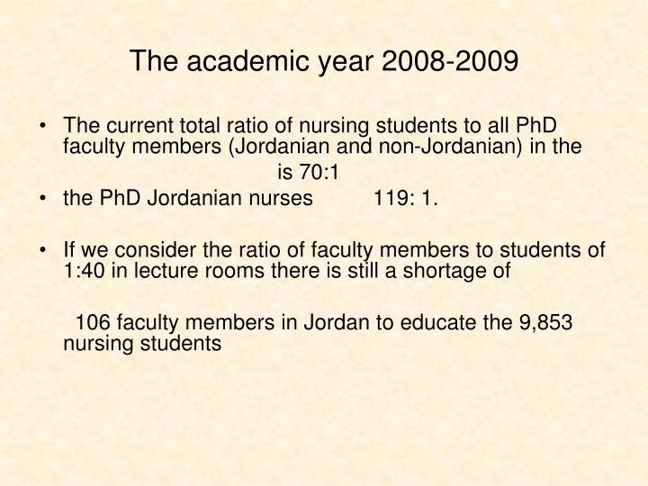 The academic year 2008-2009