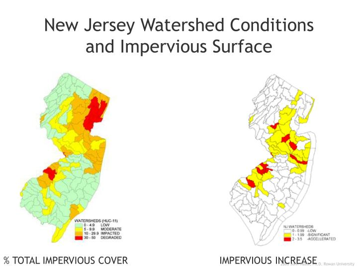 New Jersey Watershed Conditions and Impervious Surface