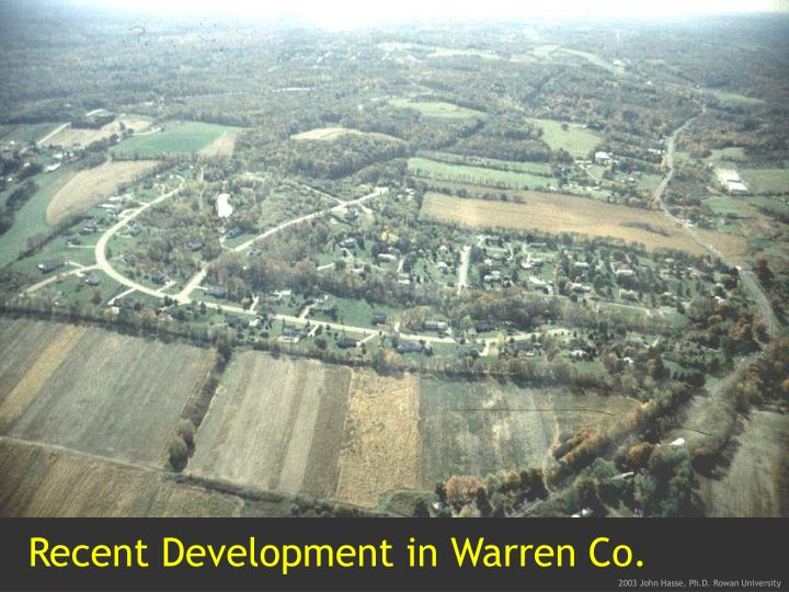 Recent Development in Warren Co.
