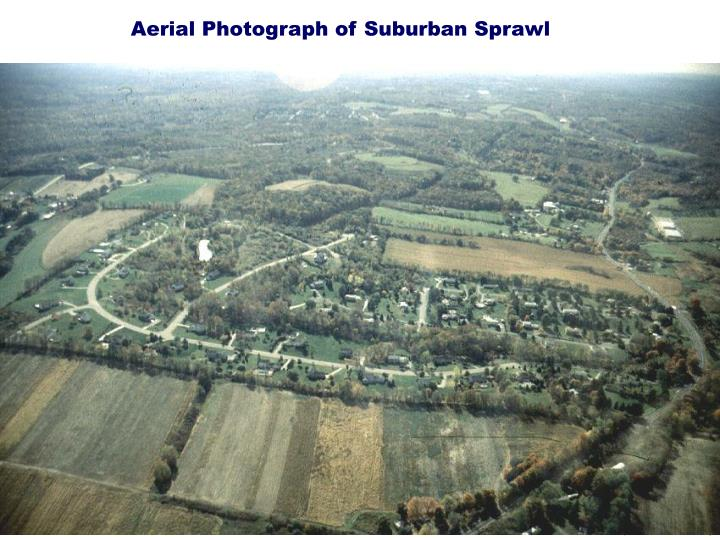 Aerial Photograph of Suburban Sprawl