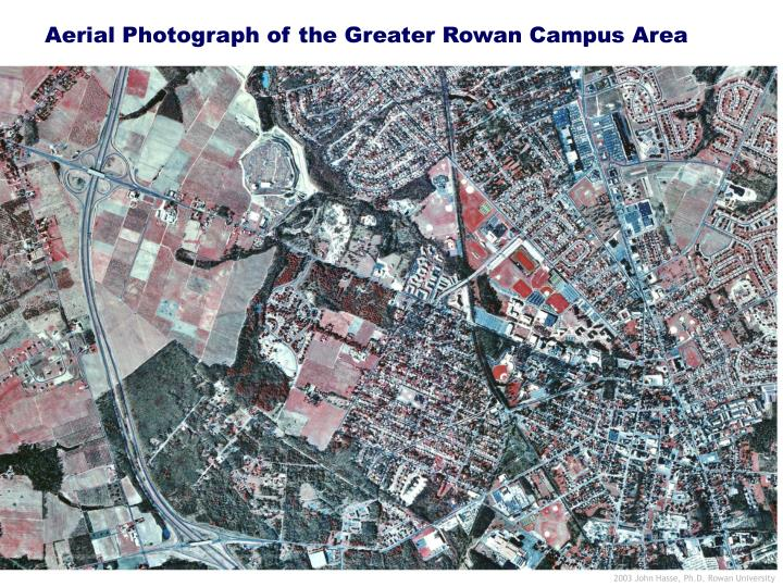 Aerial Photograph of the Greater Rowan Campus Area