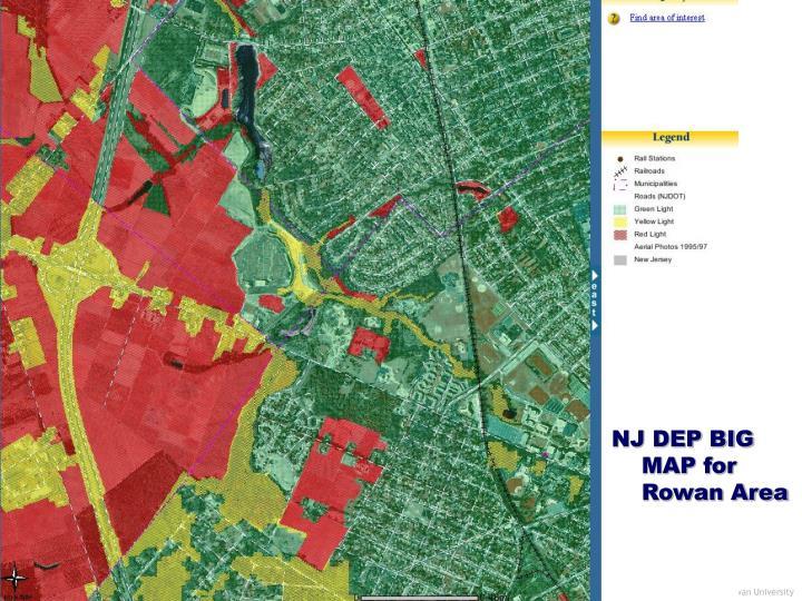 NJ DEP BIG MAP for Rowan Area