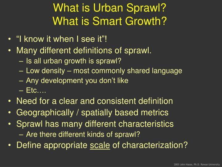 What is Urban Sprawl?