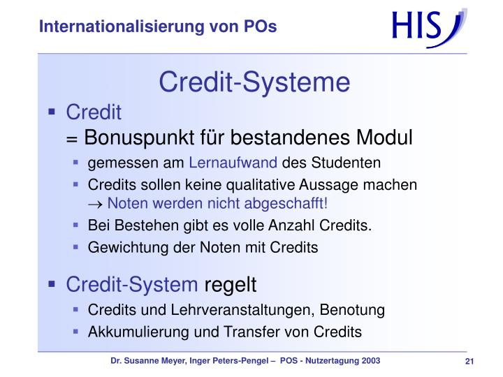 Credit-Systeme
