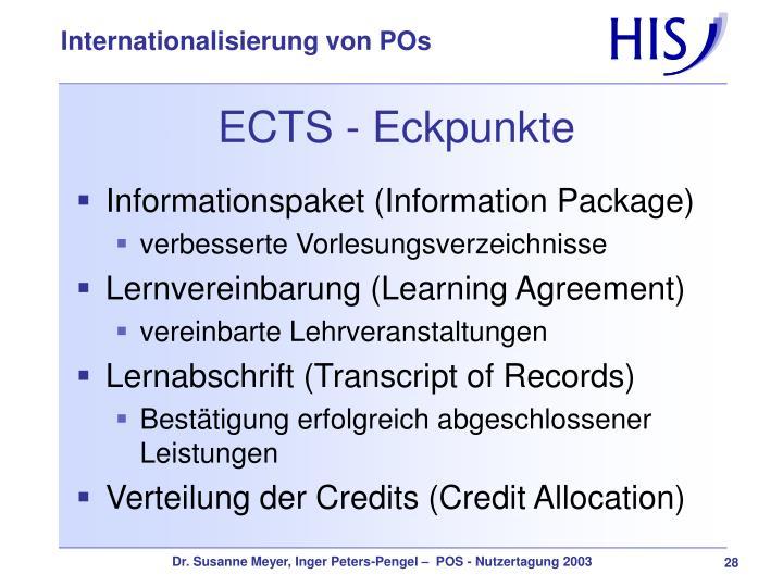 ECTS - Eckpunkte