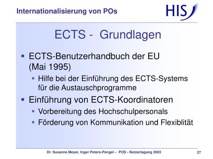 ECTS -  Grundlagen