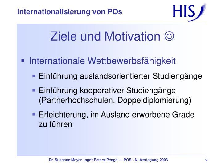 Ziele und Motivation