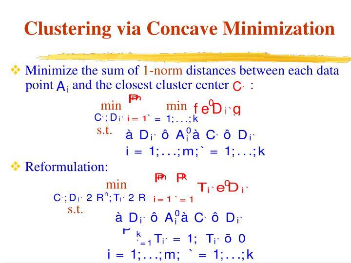 Minimize the