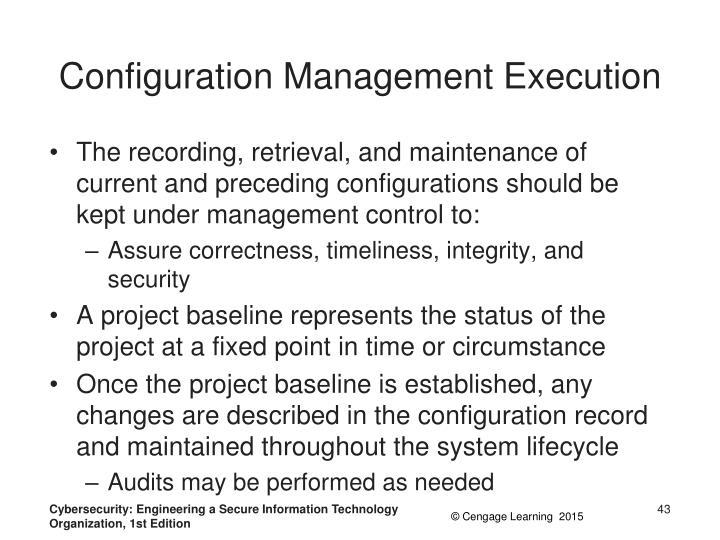 Configuration Management Execution