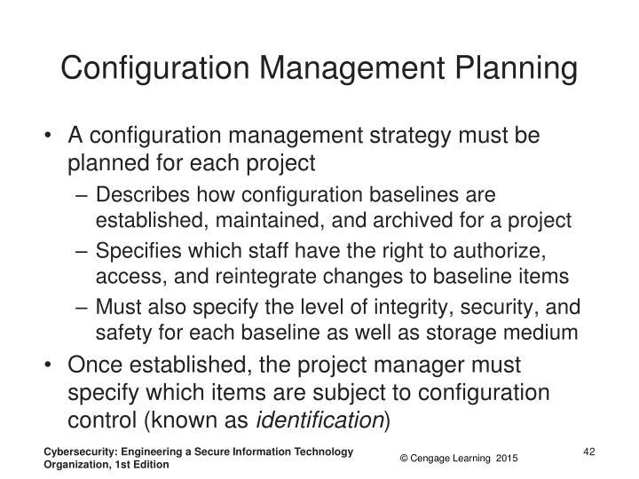 Configuration Management Planning