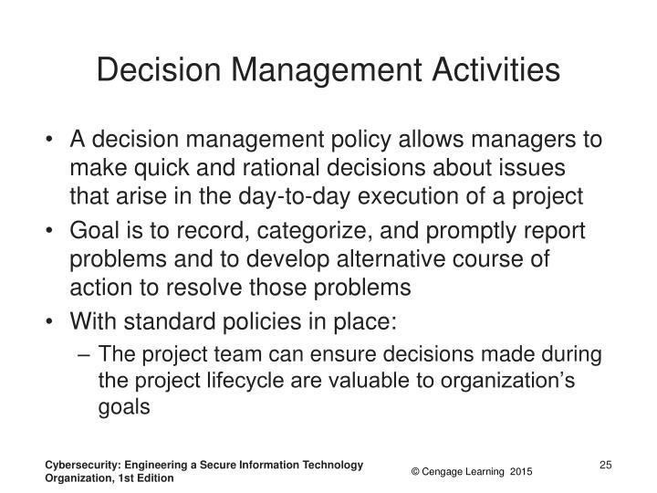 Decision Management Activities