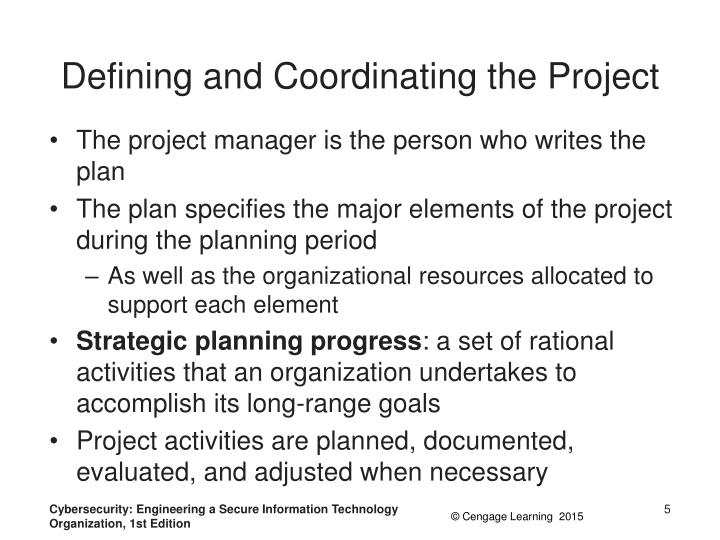 Defining and Coordinating the Project
