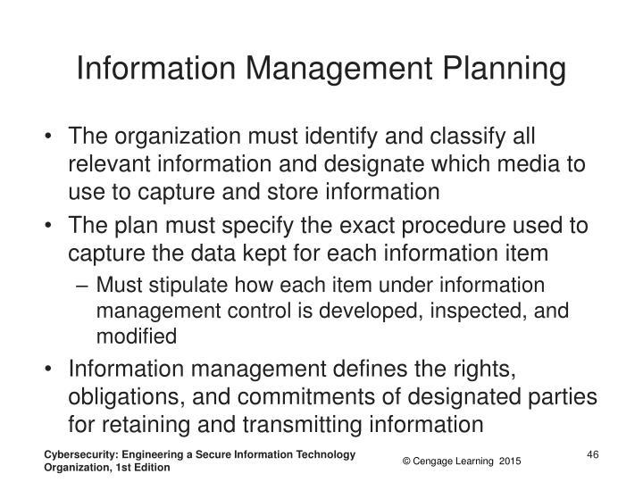 Information Management Planning