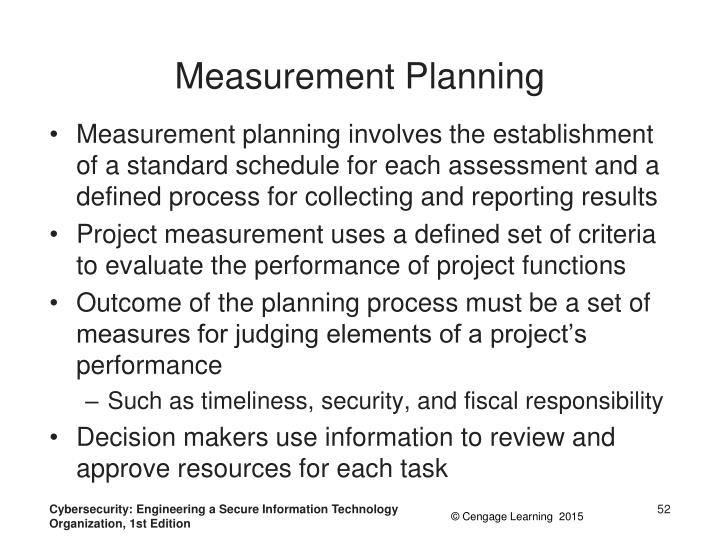 Measurement Planning
