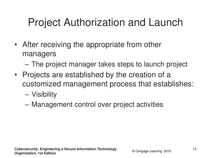 Project Authorization and Launch
