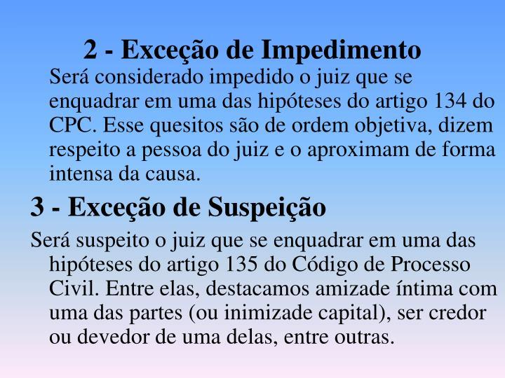 2 - Exceção de Impedimento