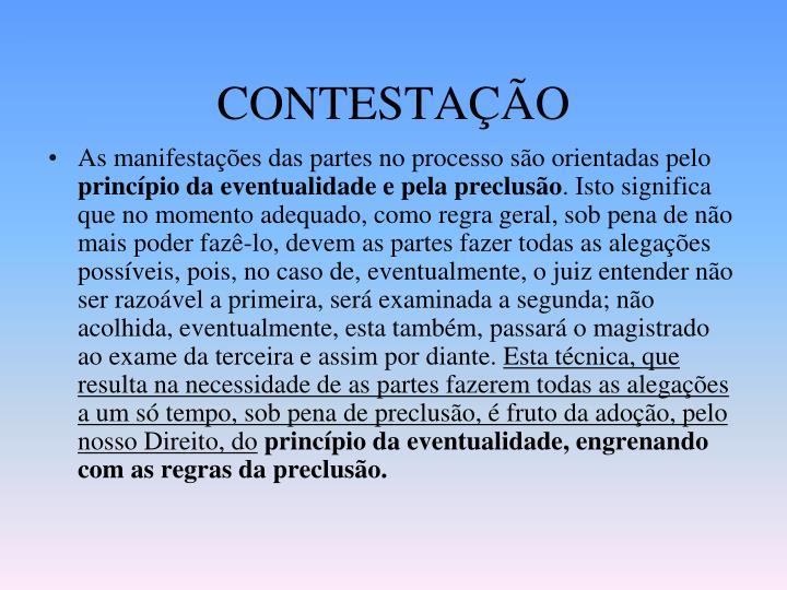 CONTESTAÇÃO