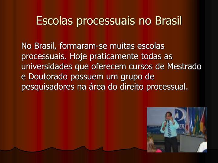 Escolas processuais no Brasil