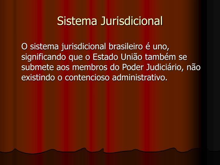 Sistema Jurisdicional