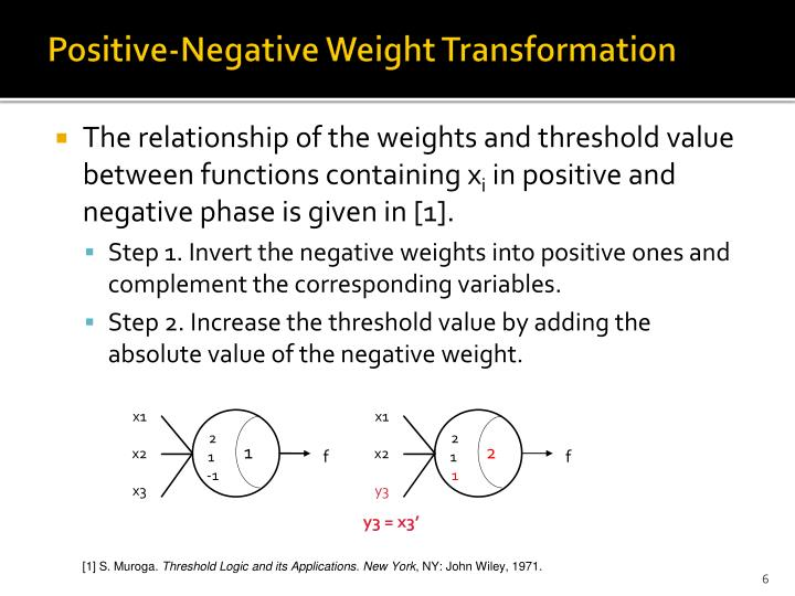 Positive-Negative Weight Transformation