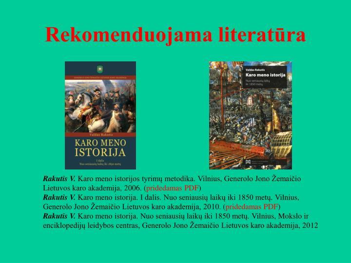 Rekomenduojama literatūra