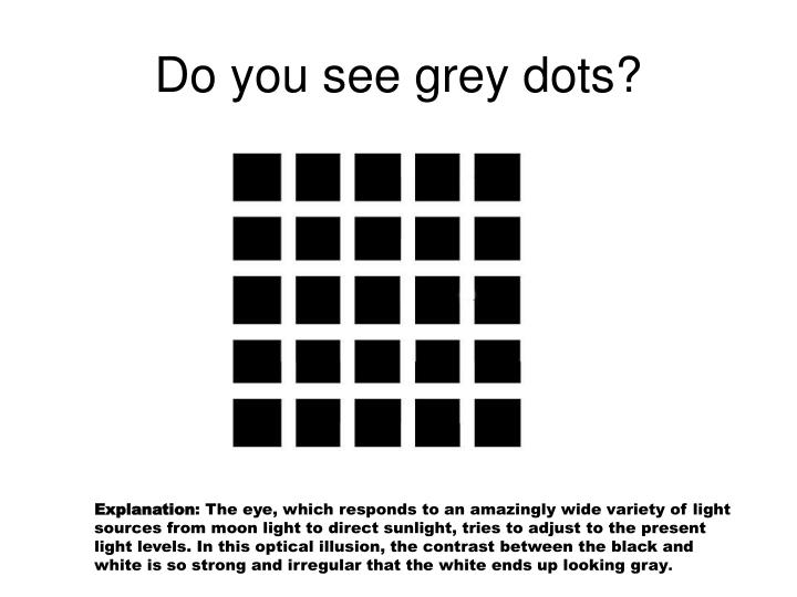 Do you see grey dots?