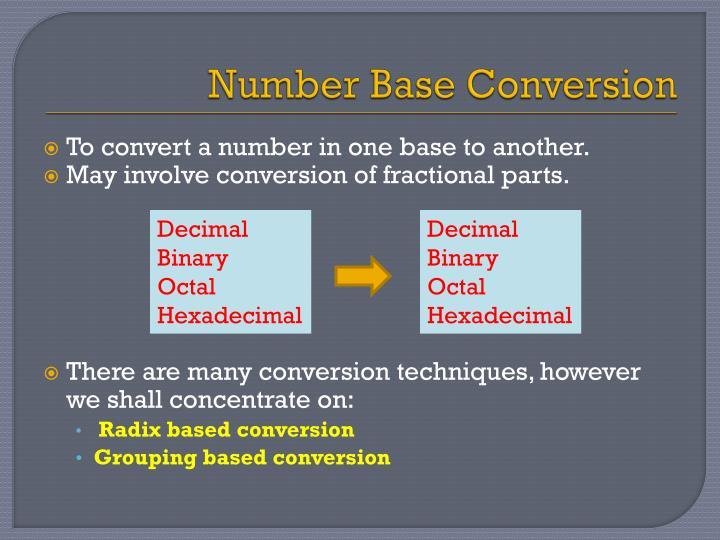 Number Base Conversion