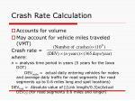 crash rate calculation