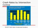 crash rates by intersection control