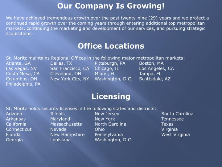 Our Company Is Growing!