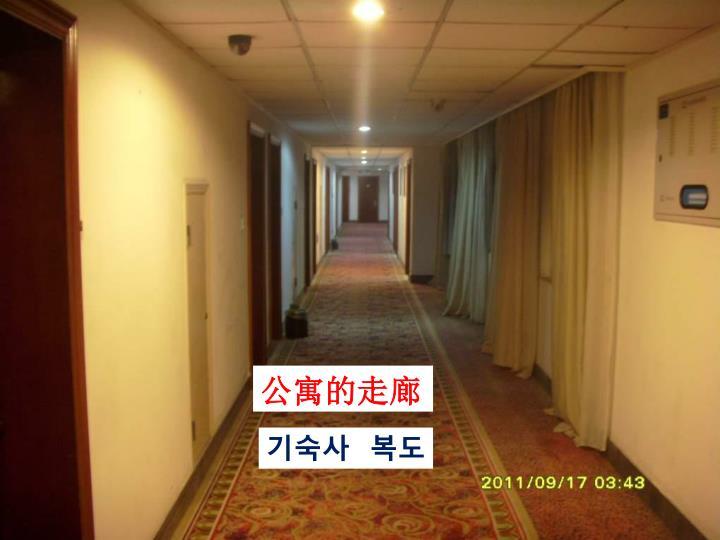 公寓的走廊