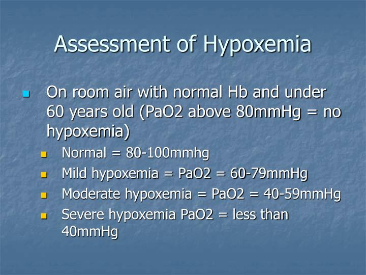 Assessment of Hypoxemia