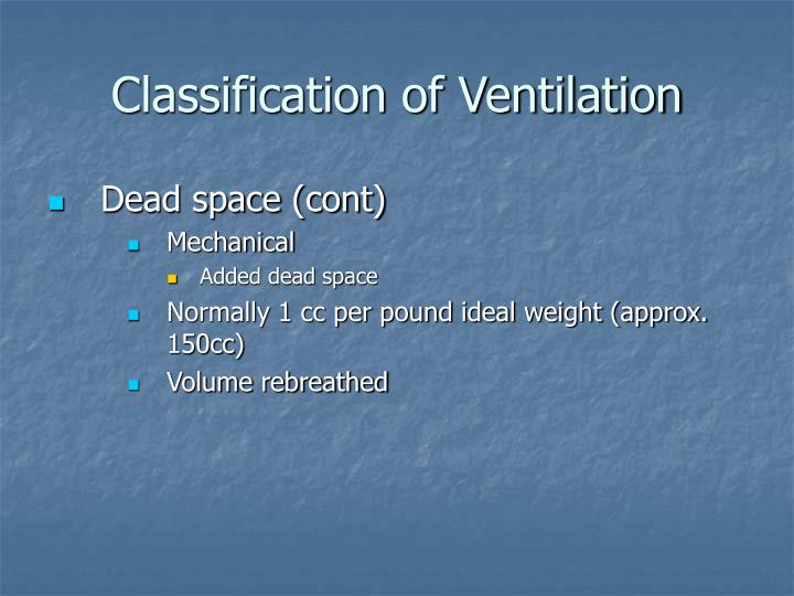 Classification of Ventilation