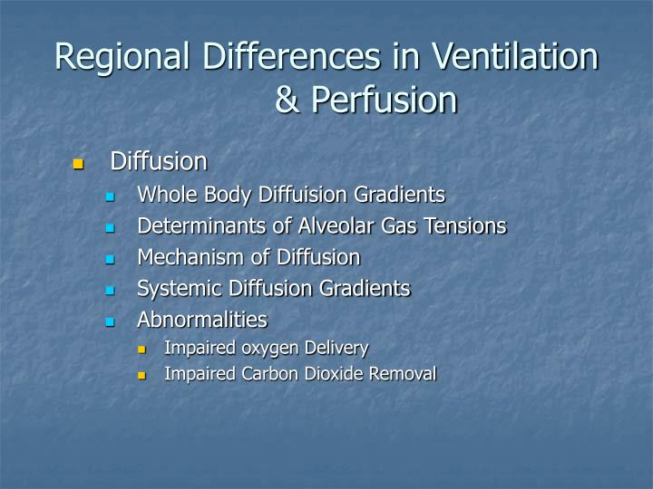 Regional Differences in Ventilation & Perfusion