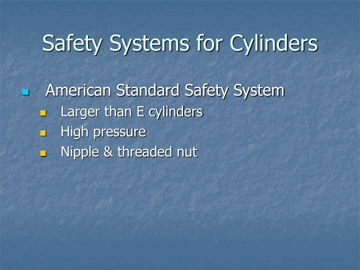 Safety Systems for Cylinders