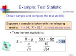 example test statistic