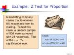 example z test for proportion