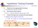 hypothesis testing example1
